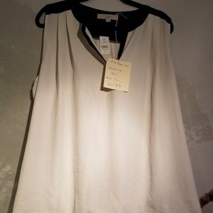 LOFT sleeveless rayon/cotton shirt